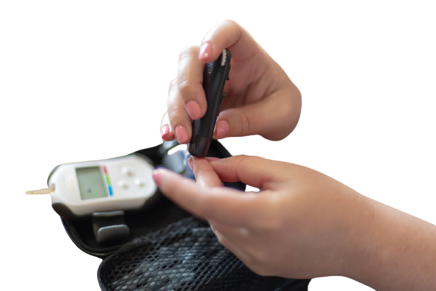 glucose meter with lancet device